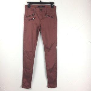 Joe's Jeans Rocker Skinny Moto Jeans Vintage Red
